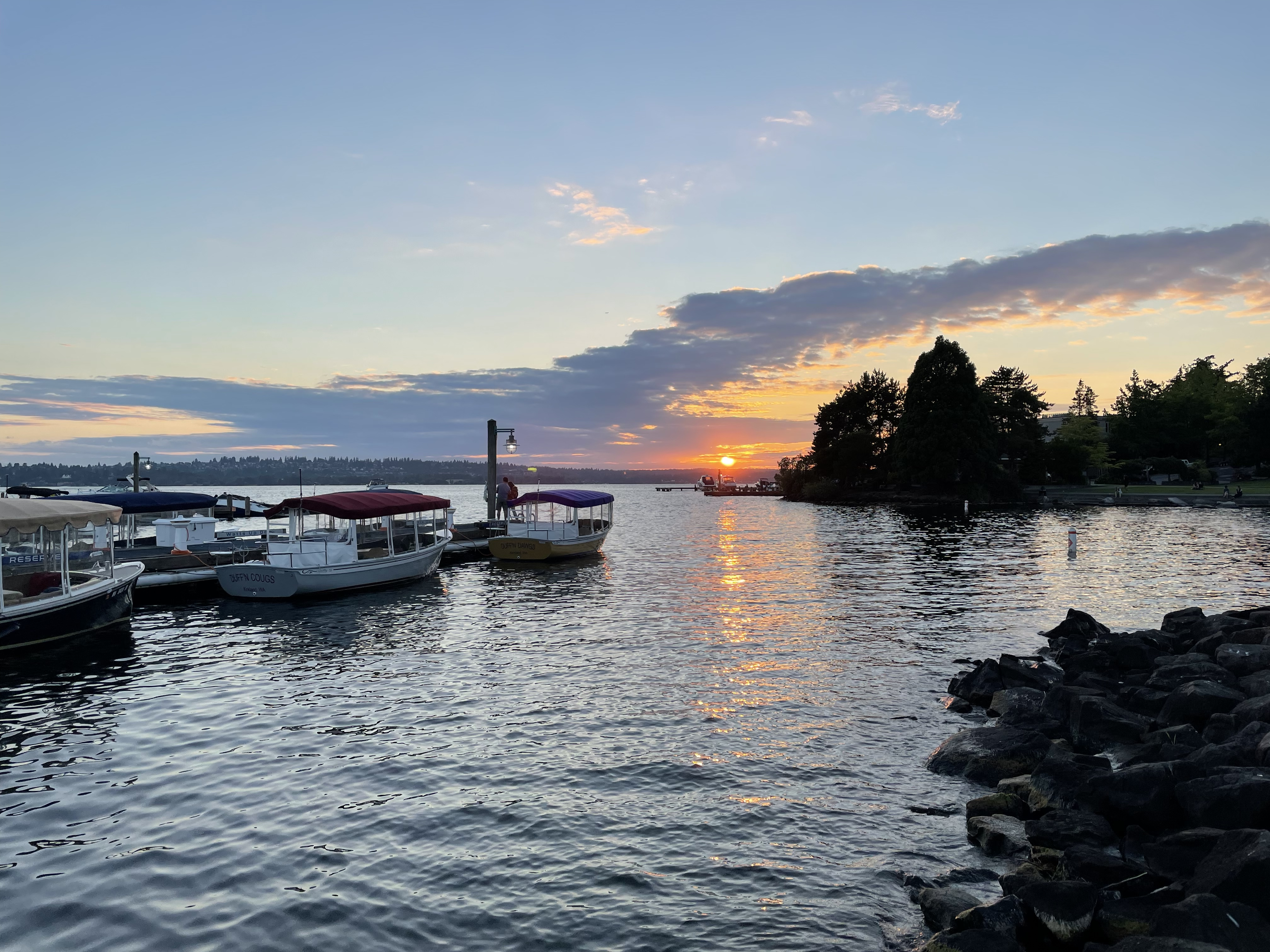 A picture of a sunset in Kirkland